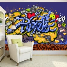 -Custom 3D Mural Wallpaper Modern Abstract Graffiti Art Mural Wall Painting Pictures Living Room Bedroom Wall Papers Home Decor on JD