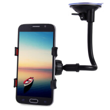 87506-Universal Long Arm 360 Degrees Rotation Windshield Dashboard Car Mount Holder Cradle System for Phones on JD