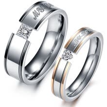 couple-rings-Heart Cubic Zirconia Wedding Engagement Rings Set 316l Stainless Steel Promise Rings For Couples Accessories .OR351 on JD