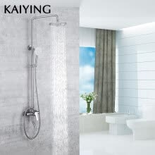 8750211-KAIYING Bathroom Rainfall Shower Faucet Set Stainless Steel Bathtub Faucets Shower Mixer Tap Bath Shower Taps ,842 on JD