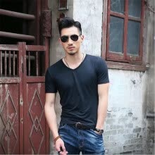 -Men V-neck Summer Short Sleeve T Shirt on JD