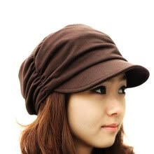 875062531-Vanker Women Fashion Pleated Layers Beret Beanie Hat Peaked Brim Casual Sun Cap on JD