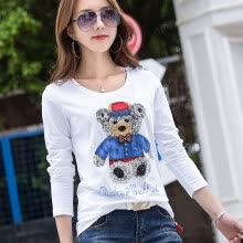 -2018 Spring-Summer New Subsection Ladybird long sleeve t shirt for women on JD