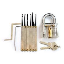 safety-protection-fittings-6 PIECE LEARN TO LOCKPICK SET transparent Lock 6 keys on JD