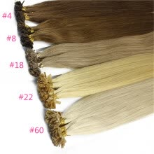 fusion-hair-extensions-Iwona 100% Brazilian Virgin Remy Hair Straight Flat Tip Or U Tip 1g/s 100g Human Hair on JD