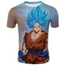 -(S-XXXXL) New Men's Fashion Short-Sleeve T-Shirt Dragon Ball Anime Print T-Shirt Casual Slim Sport T-Shirt Men's Tights on JD