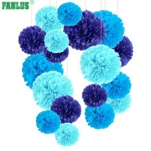 home-d-cor-6inch 1piece pompon Tissue Paper Pom Poms Flower Balls for wedding room Decoration Party Supplies diy craft paper flower on JD