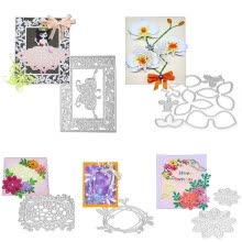 -Cutting Dies Artifact Tool DIY Scrapbooking Decorative Embossing Folder Suit Paper Cards Die Cutting Template on JD