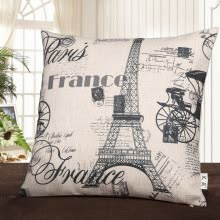 -Pound Ai Wei thick cotton Eiffel Tower office sleep pillow pillow simple sofa cushion with the main Paris i on JD