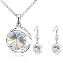 -Fashion Jewelry Sets High Quality Necklace Sets For Women Jewelry Crystals Unique Round Design on JD