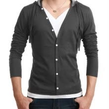 -Zogaa New Men's Shirt Long Sleeve Slim Hooded on JD
