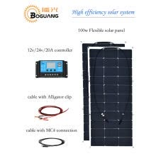 -BOGUANG 200w 12v Solar System Waterproof 16v 100w Flexible solar panel  module High efficiency monocrystalline silicon cell charge on JD
