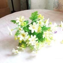 87502-Vanker Fashion Artificial Chrysanthemum Flowers Wedding Party Living Room Decor Bouquet White on JD