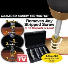 87502-MyMei Screw Extractor Drill Bits Guide Set Broken Damaged Bolt Remover Speed Out on JD