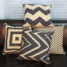 8750203-4 Styles Pillow Case Black White Cushion Cover Linen Home Decor Vintage 1pc on JD