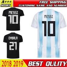 top thai quality 2018 world cup Argentina Soccer Jersey 2018 Argentina Home away  jerseys Messi Aguero Di Maria DYBALA football shi 5a3bdb5dc