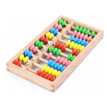 -New Wooden Baby Toy Small Size Montessori Baby Toy Beech Abacus Teaching Learning Educational Preschool Training on JD
