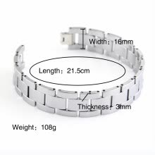 -Hpolw  Men' s Classic Tungsten Bracelet on JD