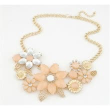 -Женщины Bauhinia Flower Necklace Pink Cream Charm Pendant Fashion on JD