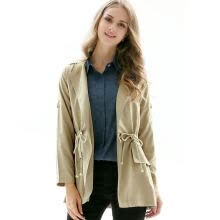875061834-BURDULLY 2018 Ladies Classic Spring Thin Trench Coat For Women Autumn Windbreaker Female Turn down Collar Overcoat Outerwear on JD