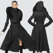 -Super queen Best Magazine Luxury Black cold trend Women's woolen Long Coat Winter Clothes Free Shipping fashion week wool  coat on JD