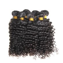 -SIVOLLA Free Shipping Natural Curly Human Hair Bundles Brazilian Deep Curls Black HairStyle Natural Color Hair Extensions on JD