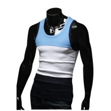 vests-Zogaa New Men's Veat Fashion Contrast Color Round Collar on JD