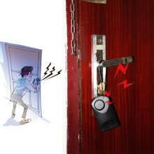8750209-120db Wireless Touch Sensor Security Alarm Loud Door Knob Entry Anti Theft TO on JD