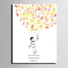8750202-Fingerprint Tree Signature Canvas Painting Balloon Wedding Gift Party Gift DIY decoration Party Gift (Includes 6Ink Colors) on JD