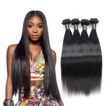 -Ishow Good Cheap Virgin Hair 4 Bundles Peruvian Straight Hair Weave 100% Human Hair Unprocessed Virgin Straight Hair Weave Bundles on JD