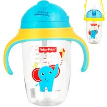 -United States Fisher children's cup sippy cup men and women baby PPSU gravity ball with handle leak-proof anti-fall learning drink cup strap water bottle (dual use) 300ML blue on JD