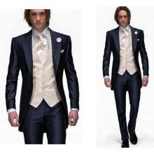875061886-Silm Fit Navy Blue Groom Tuxedos Tailcoat Best Man Wedding Grooms 3 Piece Suits on JD