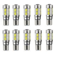 -10PCS car bulb w5w white license plate light width lamp on JD