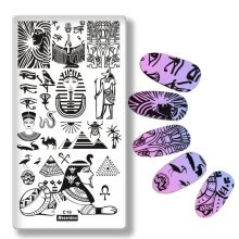 -Mezerdoo Pyramid Snake Egypt Theme Nail Art Stainless Plate Image Stamping Plates DIY Manicure Printing Template Plate Tool C16 on JD