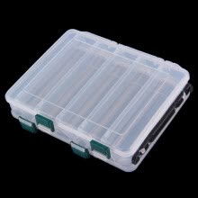 87505-Double Sided 19.5*16.5*4.5cm Minnow Fishing Hard baits Case Storage Box Fishing Tackle Box on JD