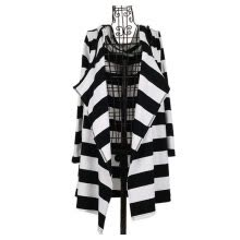 -New Fashion Sexy Women's Girl Loose Striped Coat Jacket Long Cardigan Hooded Hoodie Top on JD