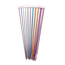 87502-11pcs 10.6' multicolour Aluminum TUNISIAN / AFGHAN Crochet Hooks Needles 2- 8mm on JD
