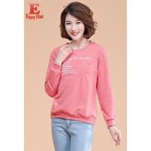 -M L XL XXL 3XL 4XL 5XL plus size cotton casual new autumn 2018 basic t shirt women long sleeve big size pink letter printed top on JD