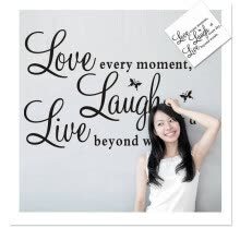-Live Laugh Love Quote Wall Stickers Home Decor Art Decal Sticker Decal Vinyl Art on JD