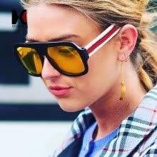 2ed394f43b SHAUNA New Arrival Women Square Sunglasses Fashion Mixed Colors Legs Men  Clear Yellow Sun Glasses UV400