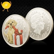 badges-2018 dog baby commemorative coins colorful silver plated coins holiday gifts on JD