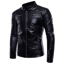 leather-faux-leather-(M-5XL) Brand Men's Motorcycle Leather Jacket, Men's Leather Jacket, High Quality Men's Leather Jacket Coats on JD