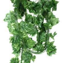 artificial-plants-mymei 7.7Feet Artificial Faux Ivy Leaf Garland Plants Fake Foliage Decoration Plastic  SWEET POTATO LEAF on JD