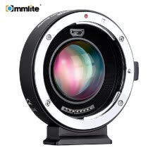 -Commlite AEF-MFT Booster Auto Focus AF Lens Mount Adapter 0.71X Focal Reducer Enlarge Aperture USB Update for Canon EF Lens to M4/ on JD