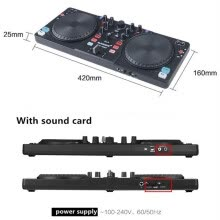 sound-mixers-With sound card DJ controller CD players DJ disc player digital One machine can Sound mixing DJing monitor Shouting microphone on JD