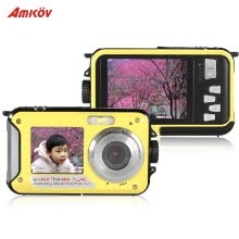 875072536-Amkov Double Dual LCD Display 2.7' Main Screen HD 24MP 16X Digital Zoom 1080P 30FPS Anti-shake Selfie Self-portrait Digital Camera on JD