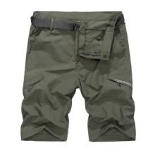 shorts-Mens Waterproof tactical Shorts Elastic waist Quick Dry combat Cargo shorts pants with belt M-4XL on JD