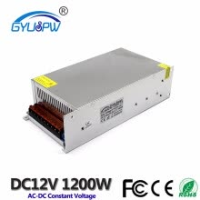 -Power supply dc 12v 100A 1200w ac-dc converter led driver 220V 110V AC DC12V SMPS For strip light Industrial equipment machine on JD