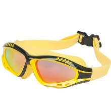 -Li Ning Li Ning large-screen coated swimming goggles high-definition anti-fog waterproof glasses men and women plating one goggles 628 black and yellow on JD