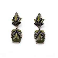 -Aiyaya European Style Rhinestone Crystal Romantic Vintage Leaf Elegant Green Drop Earrings Women Jewelry on JD